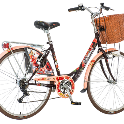 "Bicikl Visitor Fashion Bulka Crno Crveno Beli 26""/17"""