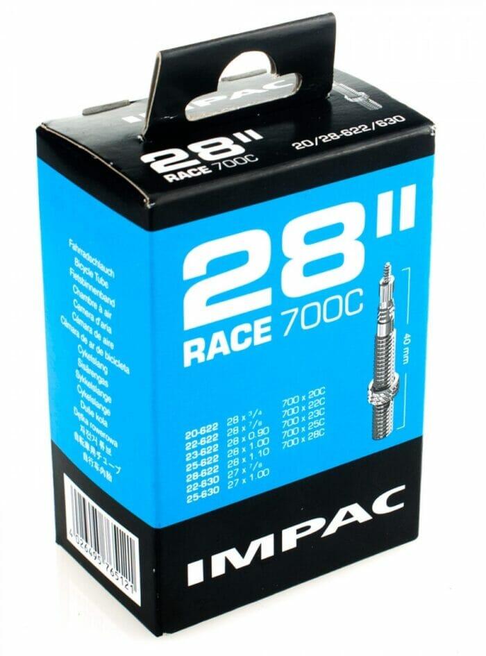 """Unutrašnja guma za drumski bicikl 18/28-622  28"""" IMPAC sa presta ventilom 40mm"""