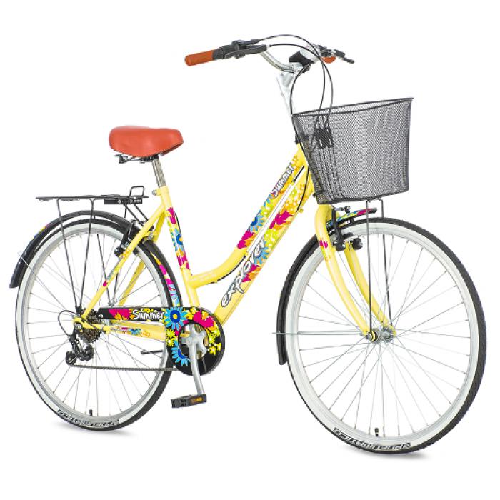 "Bicikl Explorer Summer Krem Plavo Roze Zeleni 26""/19"""