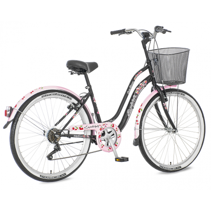 "Bicikl Explorer Cherry Blossom Roze Crni 26""/18"""