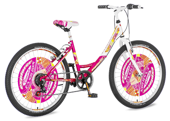 "Bicikl Explorer Fashion Roze Belo Narandzasti 24""/14"""