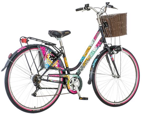 "Bicikl Visitor Dandelion Crno Roze Ljubicasti 28""/17"""