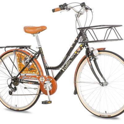 """Bicikl Visitor Caramel Crno Braon 26""""/17"""" 6 Brzina"""