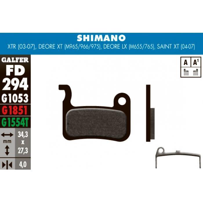 Pločice GALFER za disk kočnicu Shimano Deore LX BR-M655/765