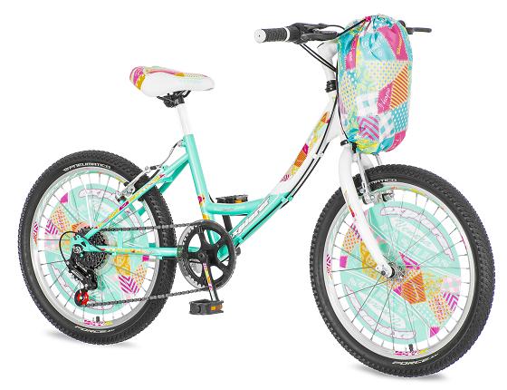 "Bicikl Explorer Fashion Tirkizno Belo Zuti 20""/12"""