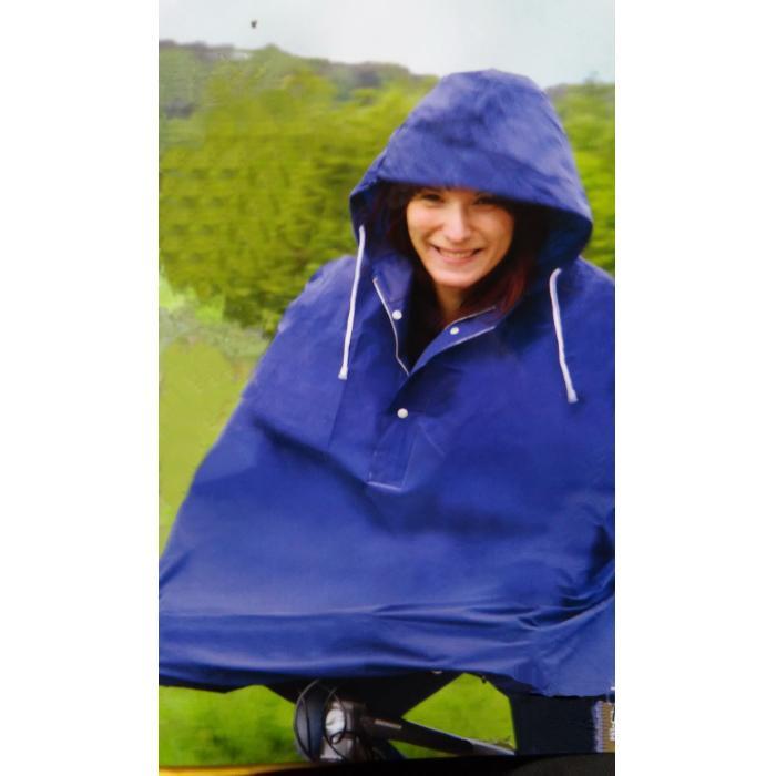 Kabanica za bicikliste plava