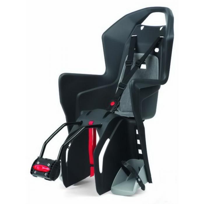 Korpa za dete - montaža na ram POLISPORT Koolah svetlo siva