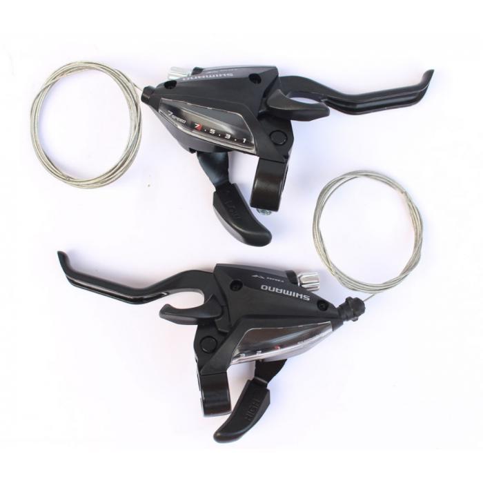 Ručice menjača i kočnica SHIMANO ST-EF500 3x7 za 2 prsta
