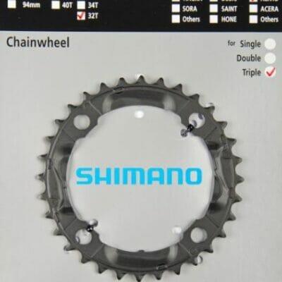 Lančanik srednji SHIMANO 32 zuba za 430-8 crni