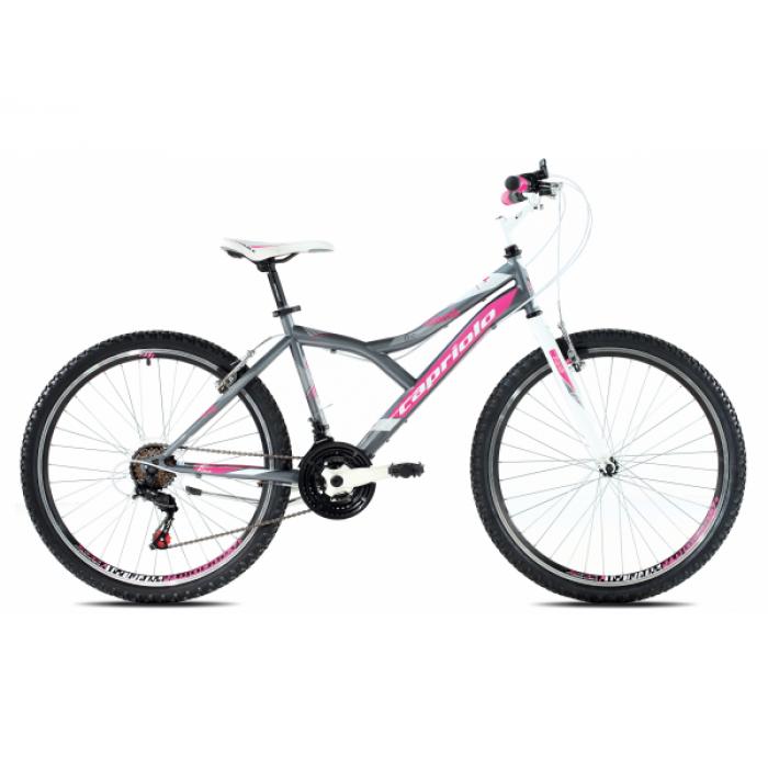 """Bicikl Capriolo Diavolo 600 26"""" sivo pink"""