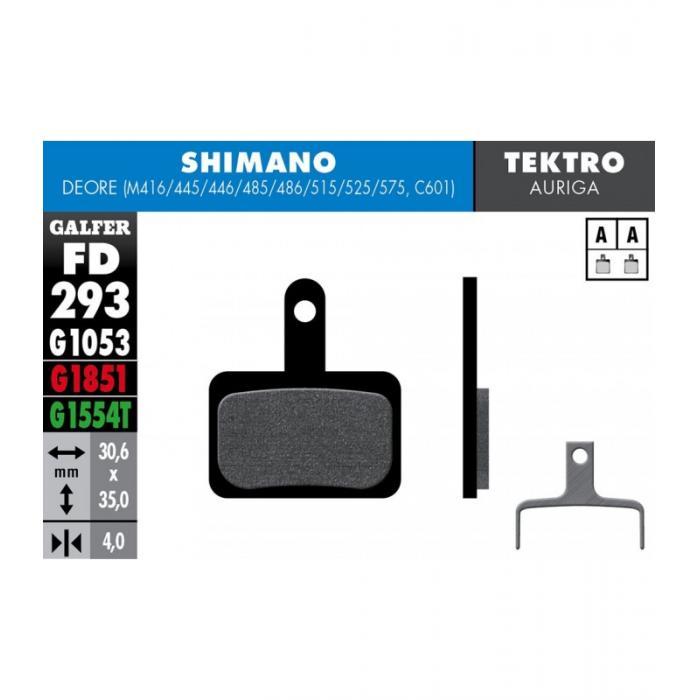 Pločice GALFER za disk kočnicu Shimano Deore m416
