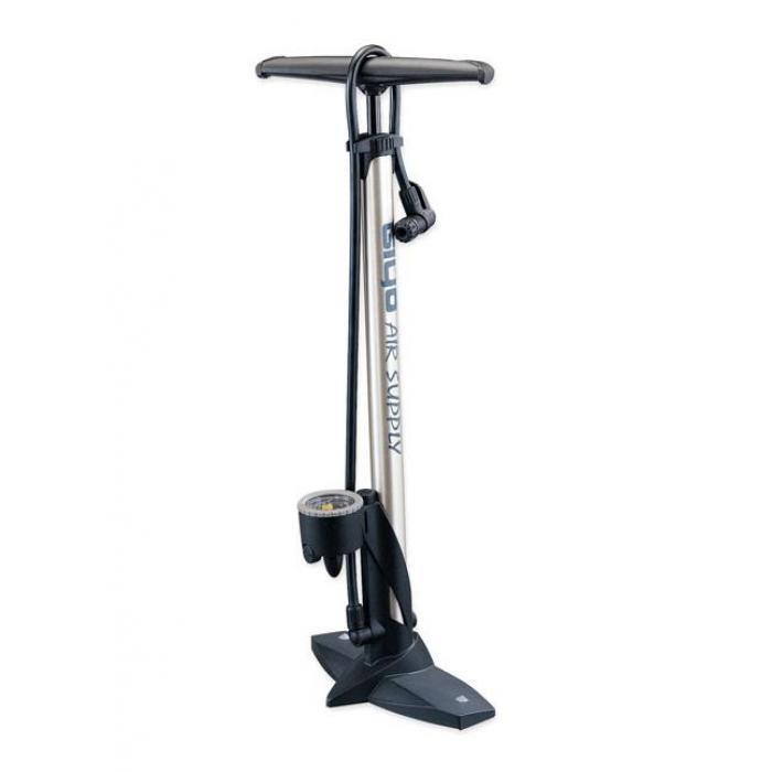 Pumpa podna za bicikl sa manometrom čelična Giyo