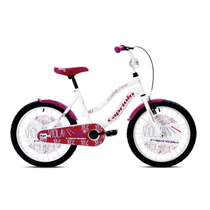 "Bicikl Capriolo Viola belo roze 20"""