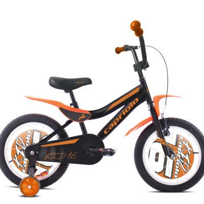 Bicikl Capriolo Kid crno narandžasti 16