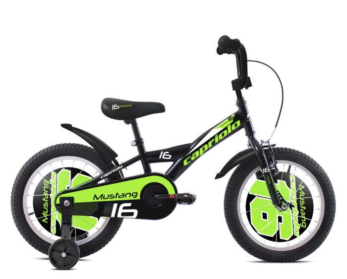Bicikl Capriolo Mustang 16 Crno zeleni