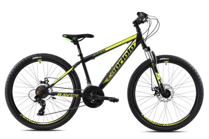 """Bicikl Capriolo Raven 26"""" crno neon"""
