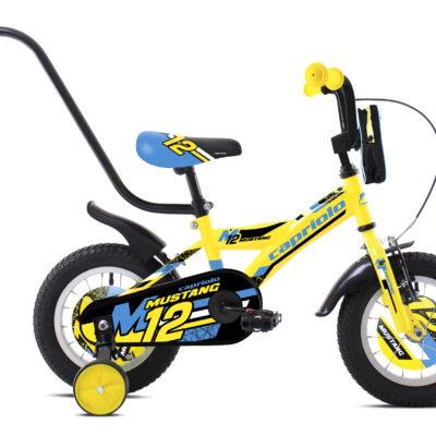 """Bicikl Capriolo Mustang 12"""" žuto crni 921106-12"""