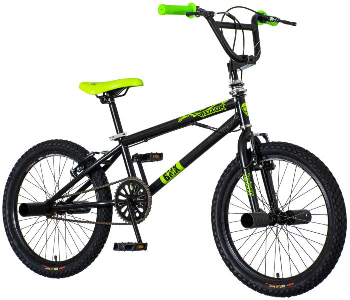 Bicikl BMX Scout freestyle crno zeleni